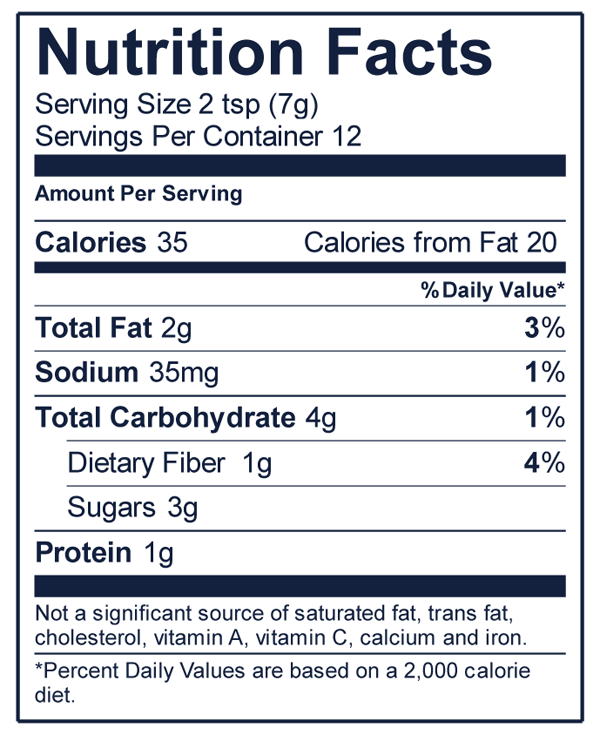 Nuts Over Fish Pistachio Fish Topping Nutrition Facts