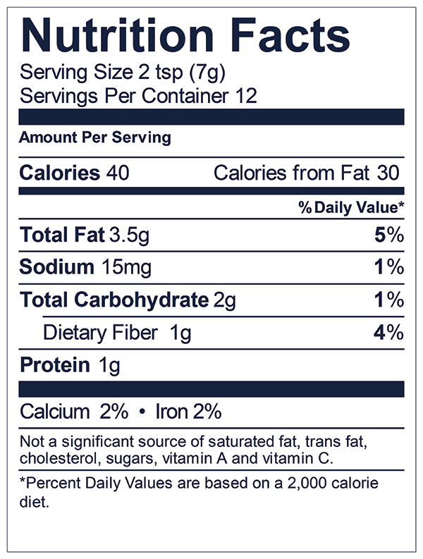 Nuts Over Fish Sugar Free Almond Fish Topping Nutrition Facts