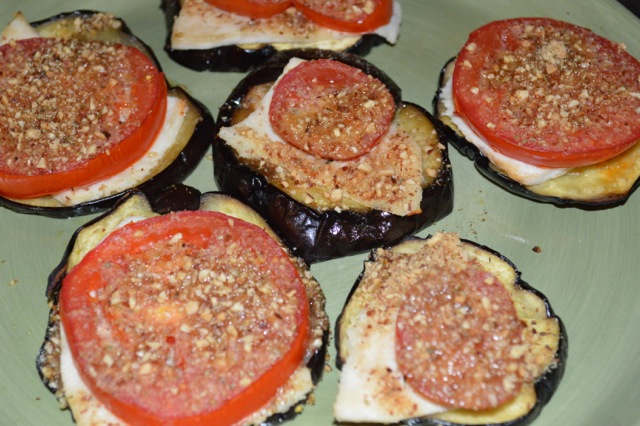 Almond Mozzarella Turkey Eggplant Nuts Over Fish Topping Recipe