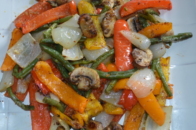 Almond Roasted Vegetables Nuts Over Fish Topping Recipe