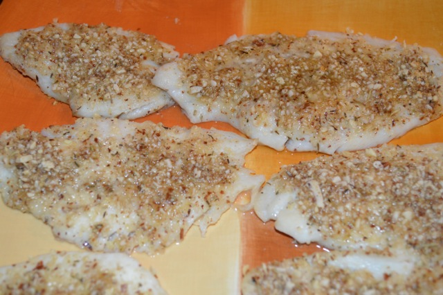Almond Topped Flounder Nuts Over Fish Topping Recipe