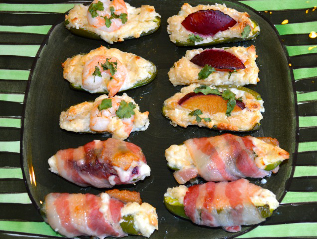 Macadamia Jalapeno Shrimp & Plum Poppers Appetizer Nuts Over Fish Topping Recipe
