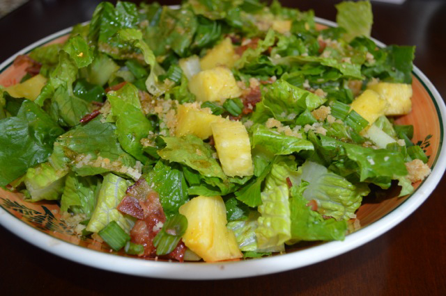Macadamia Pineapple Tropical Salad Nuts Over Fish Topping Recipe