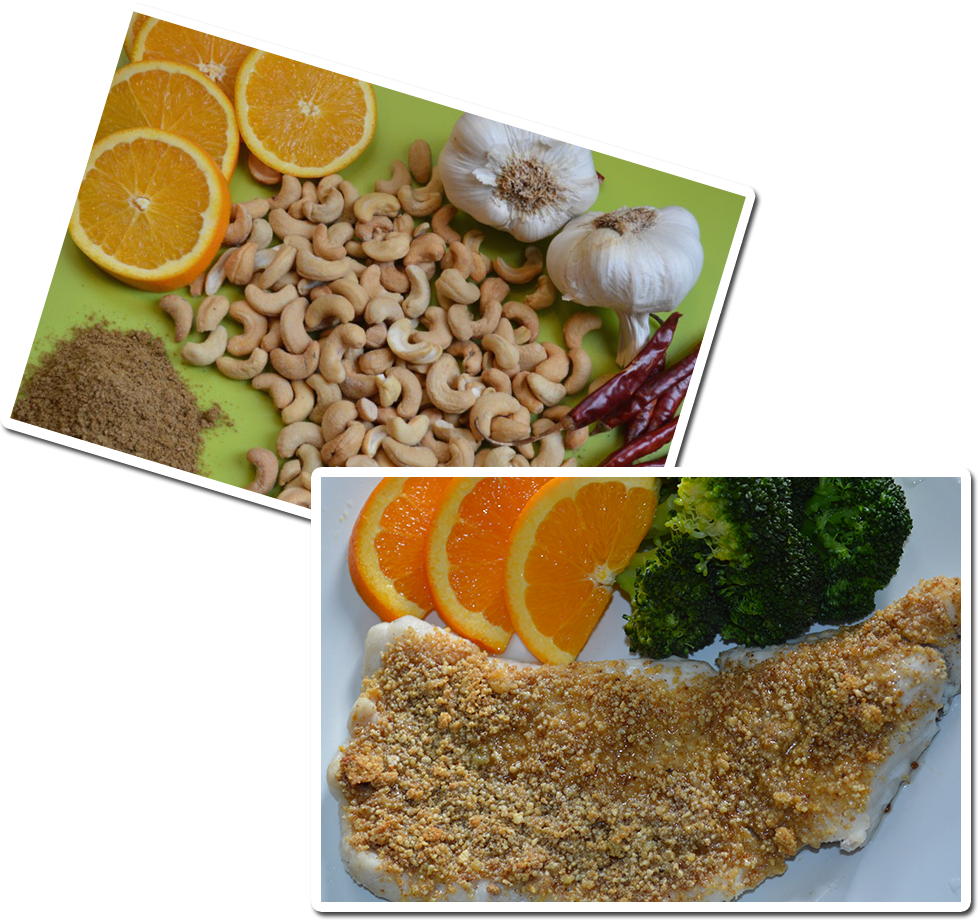 Nuts Over Fish Cashew Topping