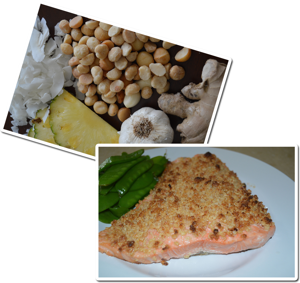 Nuts Over Fish Macadamia Topping
